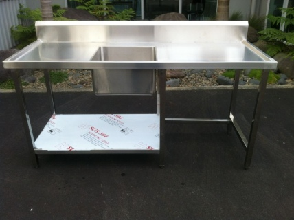 Single Bowl Sink Bench E18 1800mm
