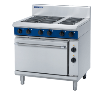 Blue Seal E506D 6 Open Hob Electric Range on Static Electric Oven