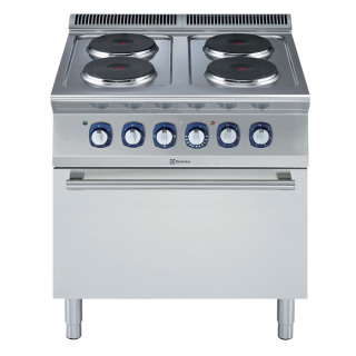 Electrolux 4 Hob Electric Range on Static Electric Oven