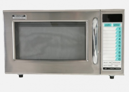 Sharp Stainless Steel Commercial Microwave 1000W