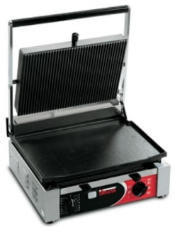 Sirman Contact Grill Single Ribbed Top and Smooth Base