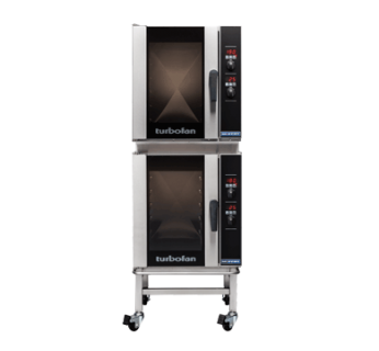 Turbofan E33D5/2C Digital Electric Convection Oven Double Stacked With Castor Base Stand