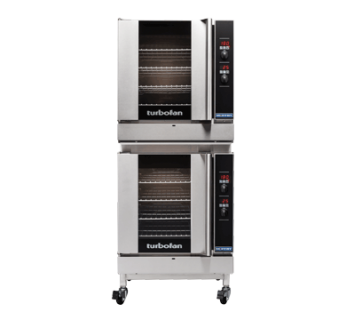 Turbofan G32D4/2C Digital Gas Convection Ovens Double Stacked With Castor Base Stand