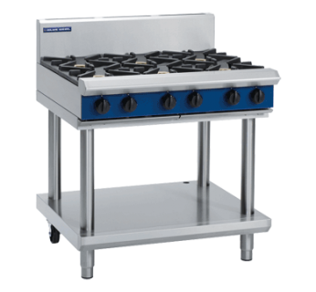 Blue Seal G516D-LS 6 Burner Gas Cooktop on Leg stand