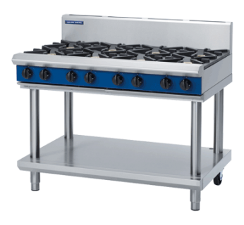 Blue Seal G518D-LS 8 Burner Gas Cook top - Leg stand