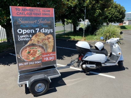 Scooter & Trailer with Advertising Bill-board  $3500